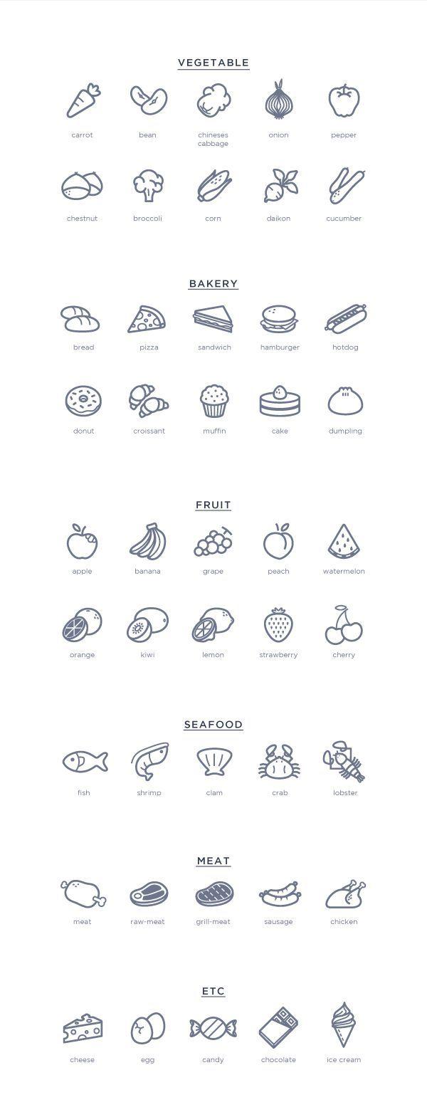Virtual Food Brand Icon Design by XXX º, via Behance