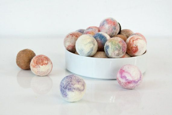 Cat Toy Ball Single Marbled Alpaca Wool Hand Felted by HouseOfCat