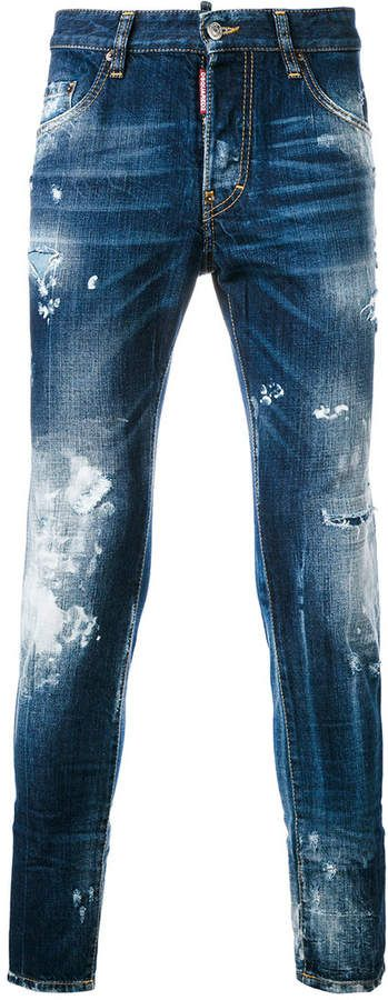 DSQUARED2 distressed Skater jeans - SALE $477–557 | EVERYSTORE