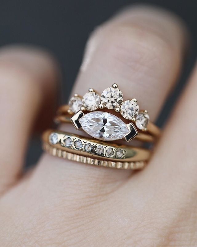 Ring Bling Why Not Wear A Bridal Stack The Champagne Diamond