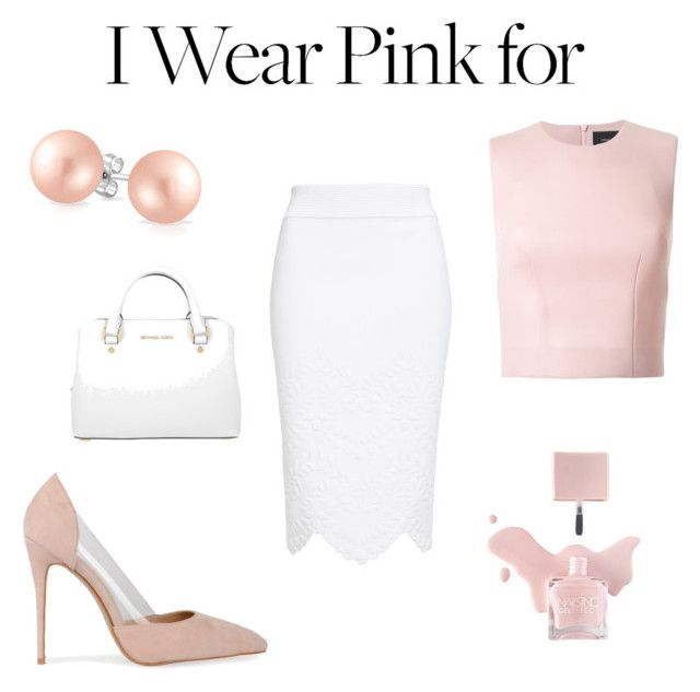 """Pink with white"" by borbalastyle on Polyvore featuring Simone Rocha, Alexander McQueen, Bling Jewelry, MICHAEL Michael Kors and IWearPinkFor"