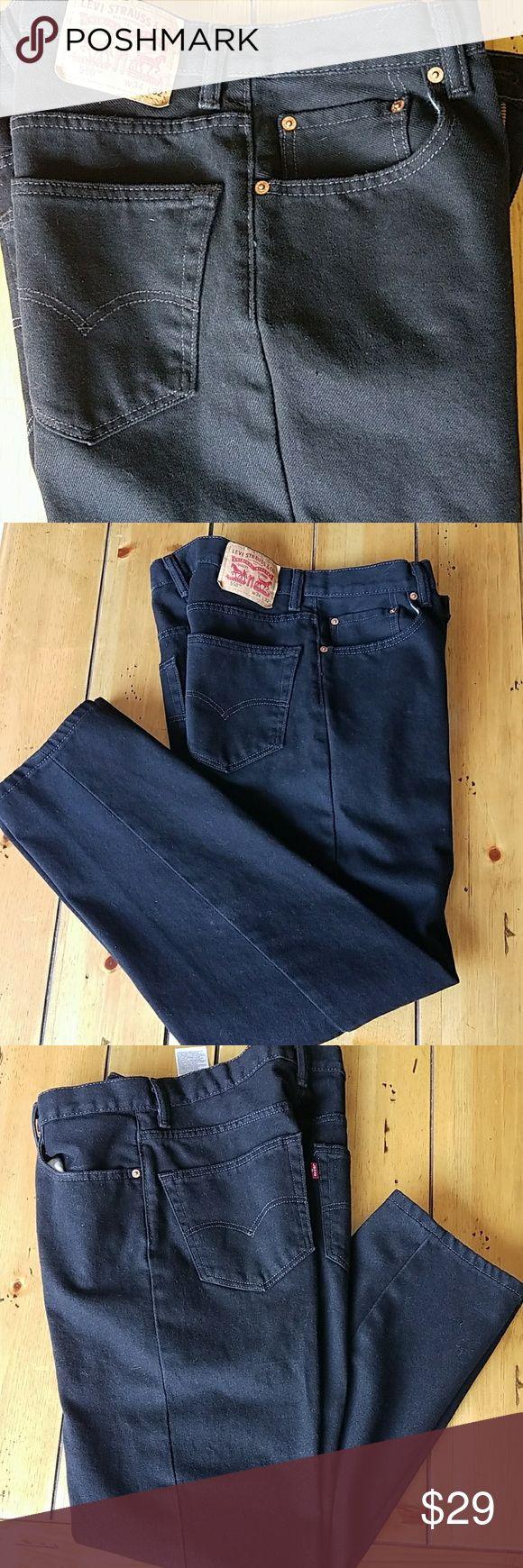 Men's Levi Jeans 550 Straight Leg Black NWOT Mens Levi 550 straight leg, never worn;  waist 34 length 32 Levi's Jeans Straight