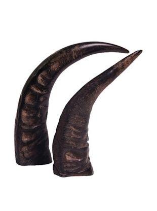 Moo-Moo Designs Full Water Buffalo Horn, Dark Natural