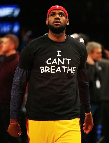 LeBron James, Kyrie Irving, Jarrett Jack, Kevin Garnett all wore I can't breathe tshirt. - http://nbafunnymeme.com/nba-team-highlights/lebron-james-kyrie-irving-jarrett-jack-kevin-garnett-all-wore-i-cant-breathe-tshirt