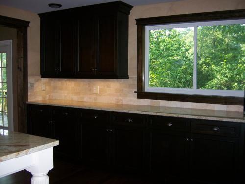 ivory travertine subway tile backsplash home improvement pinterest