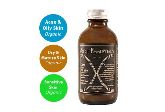Moroccan Clay Cleanser Organic Cleansing by SoulEssentialsSkin