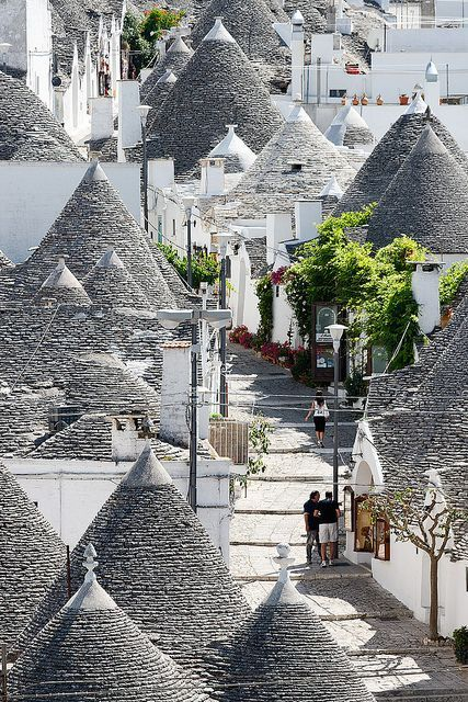 Alberobello, Bari, Italy. Experience the beautiful Italian lifestyle, nice beaches gorgeous sceneries, delicious food and nice weather. Perfect place to visit for honeymoon, adventure, to relax to party and more.