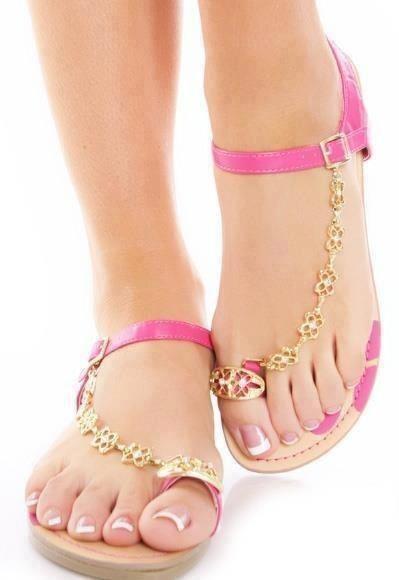 #Pink sandals