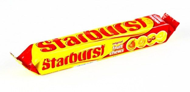 Starburst used to be called Opal Fruits; they are a great fruity, chewy sweet that come in a range of delicious flavours, such as strawberry, orange, cherry and lemon.