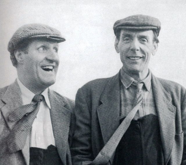 Eric Sykes (right) with Tommy Cooper.