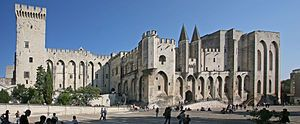 The Avignon Papacy was the period from 1309 to 1376 during which seven popes resided in Avignon, in modern-day France.[1] This arose from the conflict between the Papacy and the French crown.