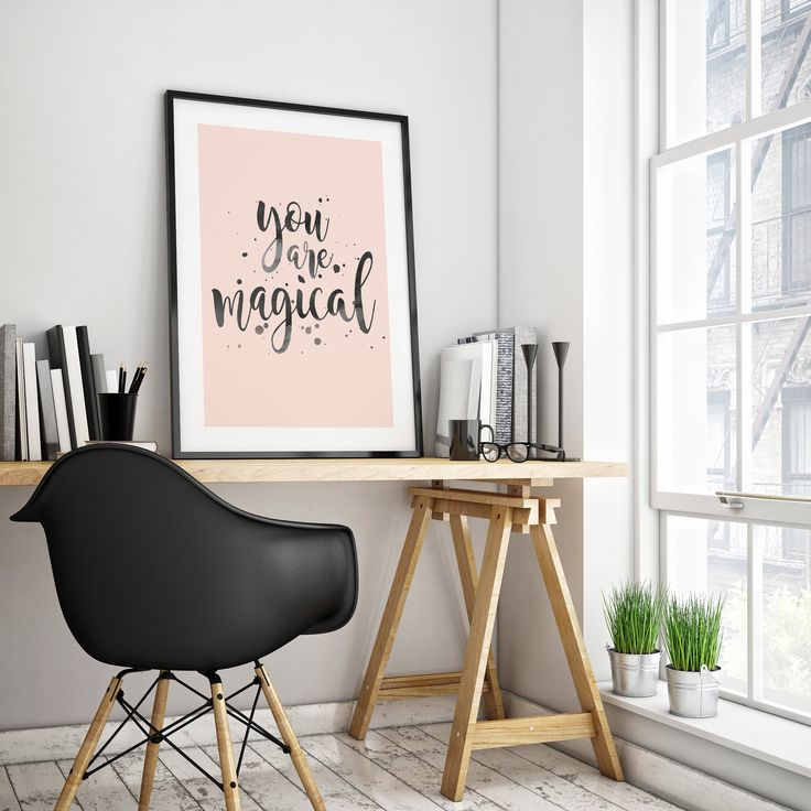 Ginny and Jane   You Are Magical Print   Inspirational Wall Art   Hand Lettering
