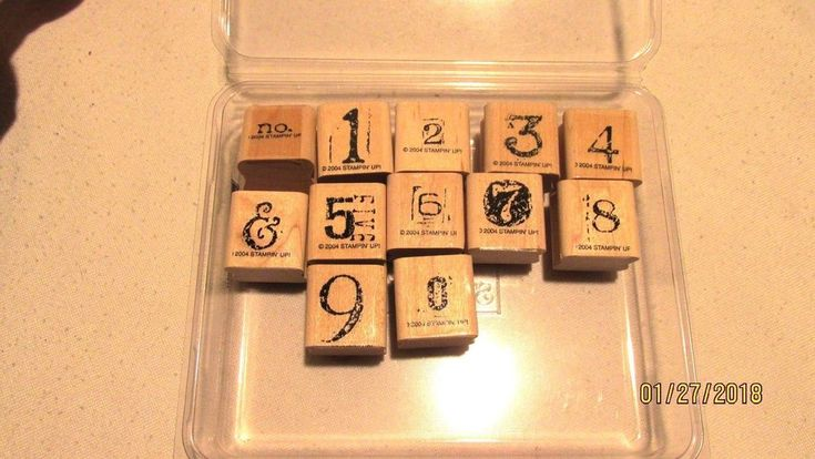 2004 Stampin Up Collage Alphabet Numbers Stamp Set f 12 #StampinUp #Border