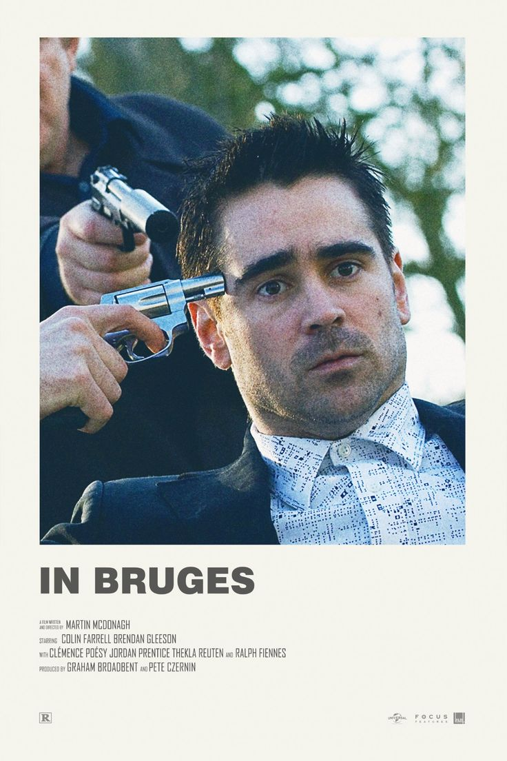 In Bruges alternative movie poster Visit my Store https://society6.com/andrewkwan