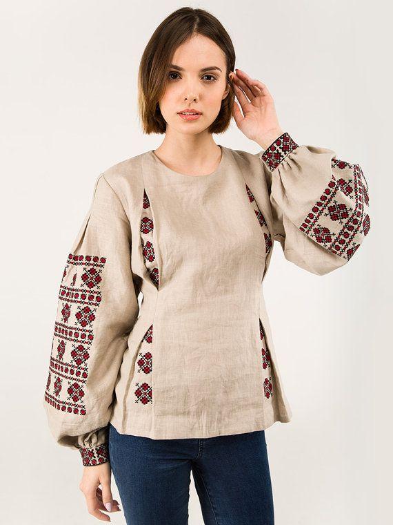 Stoff - Leinen Technik-Kreuz Themen - Baumwolle  Es ist sehr schwer zu kommen mit den ungewöhnlichen Stil der bestickten Hemd unter der Fülle von