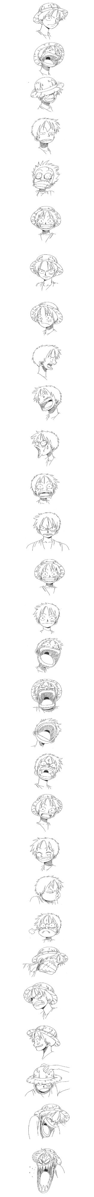 The many faces of One Piece's Monkey D. Luffy