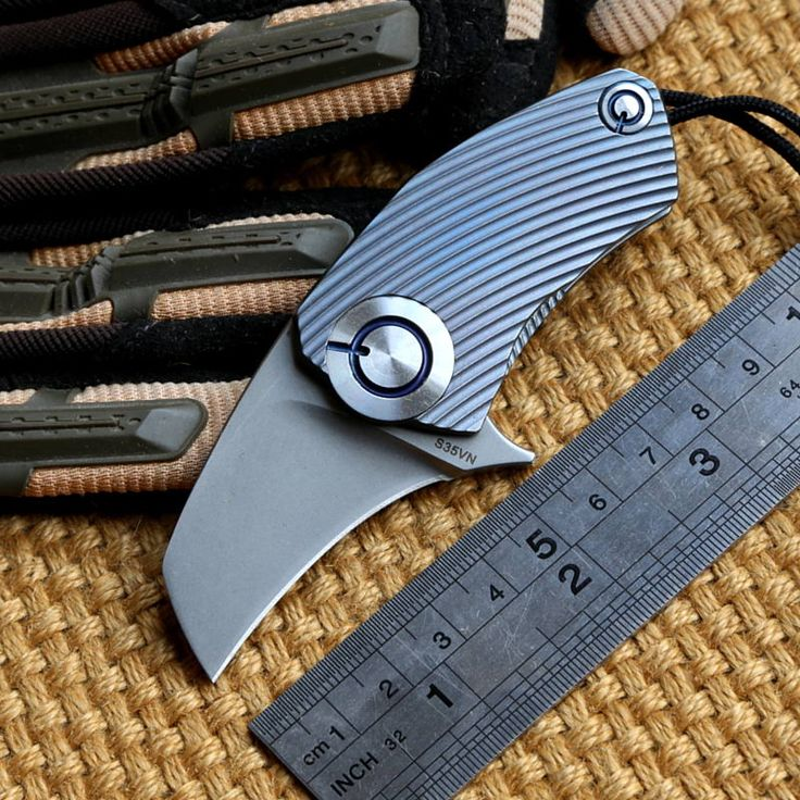 Find More Kitchen Knives Information about SiDis original design Parrot ball bearing S35vn blade Titanium Handle folding Hunt pocket outdoor camping knife knives EDC tool,High Quality knife blade,China knife making tools Suppliers, Cheap knife kitchen from DICORIA Knives Co., Ltd. on Aliexpress.com