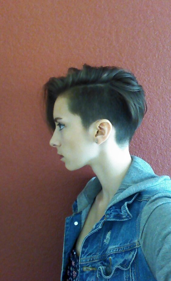 Got an undercut pixie!! I looove it!: / shaved women's hair