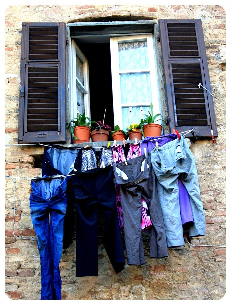 Window with laundry in Italy
