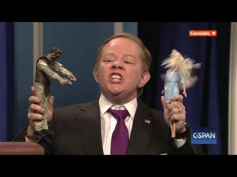 Sean Spicer Press Conference Cold Open  - Saturday Night Live en VO avec Melissa Mc Carthy - YouTube
