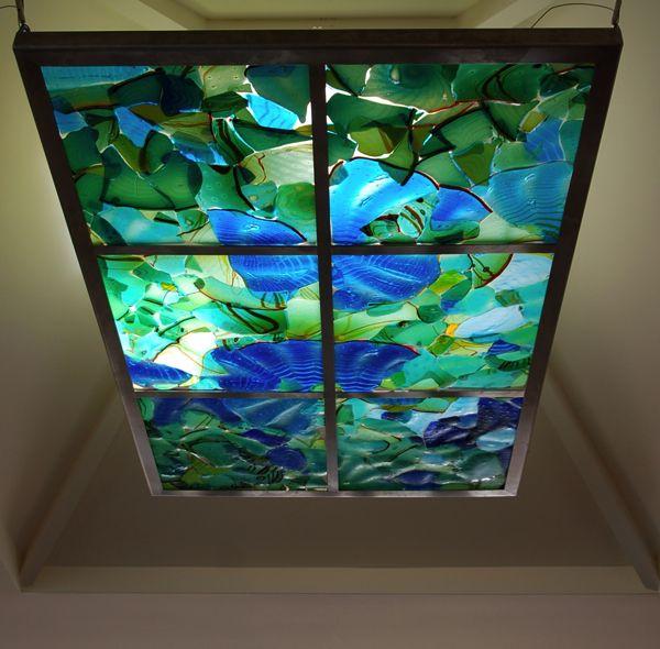 Fused Aquarium skylight, illuminated with LEDs