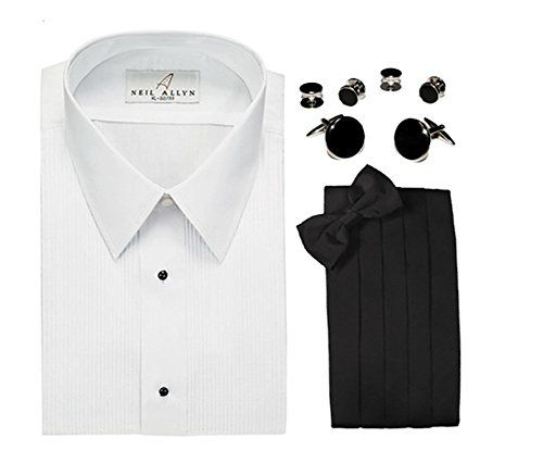 Neil Allyn Mens 14 Pleat Tuxedo Shirt  Accessories 4Piece Set ** You can find out more details at the link of the image.