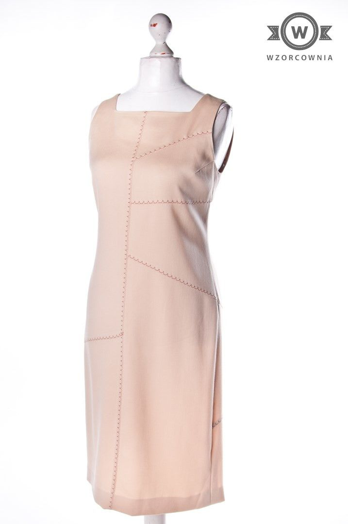 >> #Beżowa #sukienka #DeniCler #Wzorcownia online | #women #dress