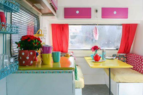 Super Kitsch Caravan Before and After - Heart Handmade uk