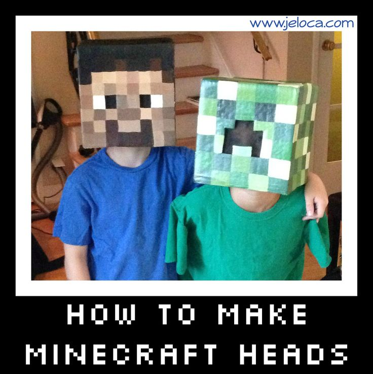 how to make minecraft steve and creeper heads