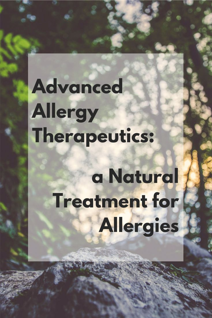 Advanced Allergy Therapeutics: a Natural Treatment for Allergies