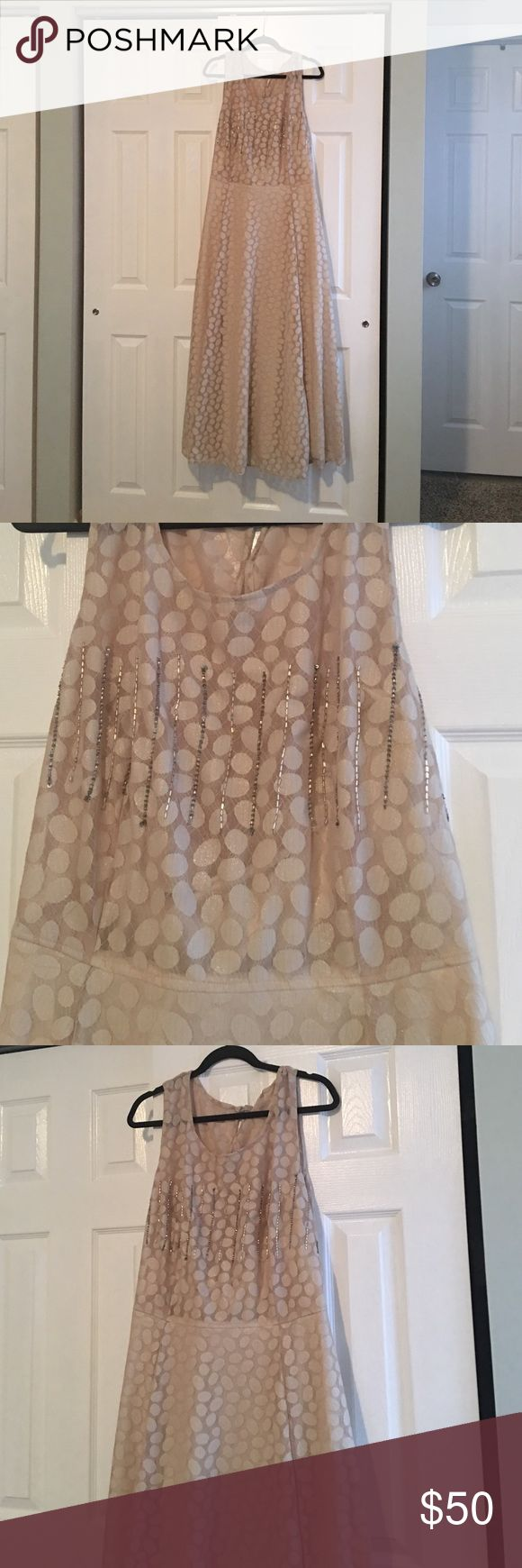 Gold/Cream Formal Dress Maxi dress with beautiful detail - brand new with tags - never worn- slight gold shimmer to fabric eshakti Dresses Maxi