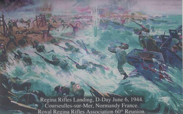 Regina Rifles Landing, D-Day June 6, 1944. Royal ... | saskhistoryonline.ca