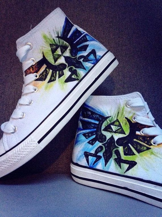 Legend of Zelda Triforce Shoes by ZeldaCrap on Etsy