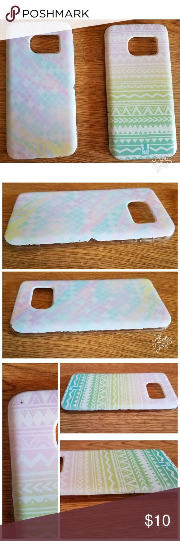 Galaxy s7 phone case bundle Gently used phone cases. Some wear on the edges- shown in photos.   Smoke free home. Head Case Accessories Phone Cases