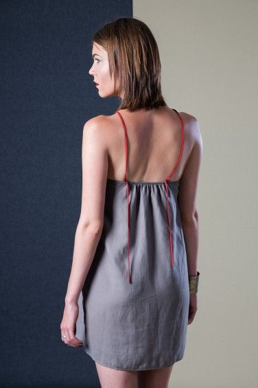 Cape Fold Dress Back