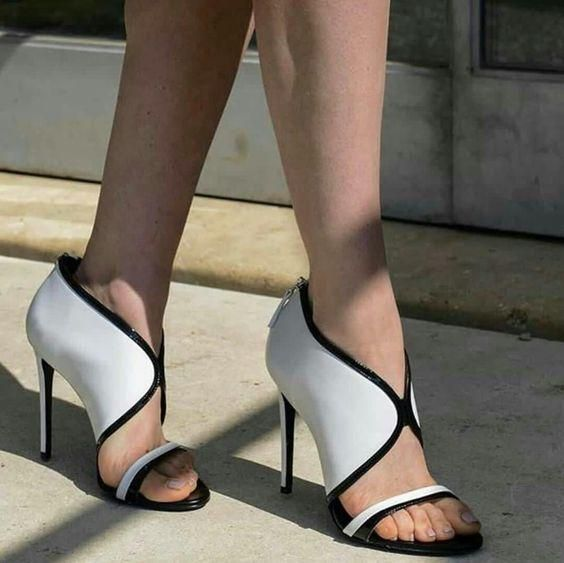 ... Dress Shoes Girls Peep Toe Shoes. Sestito 2018 Ladies Sexy Front V  Mixed Color Summer Sandals Woman Back Zipper Cover High Heels c8252a1f7c41
