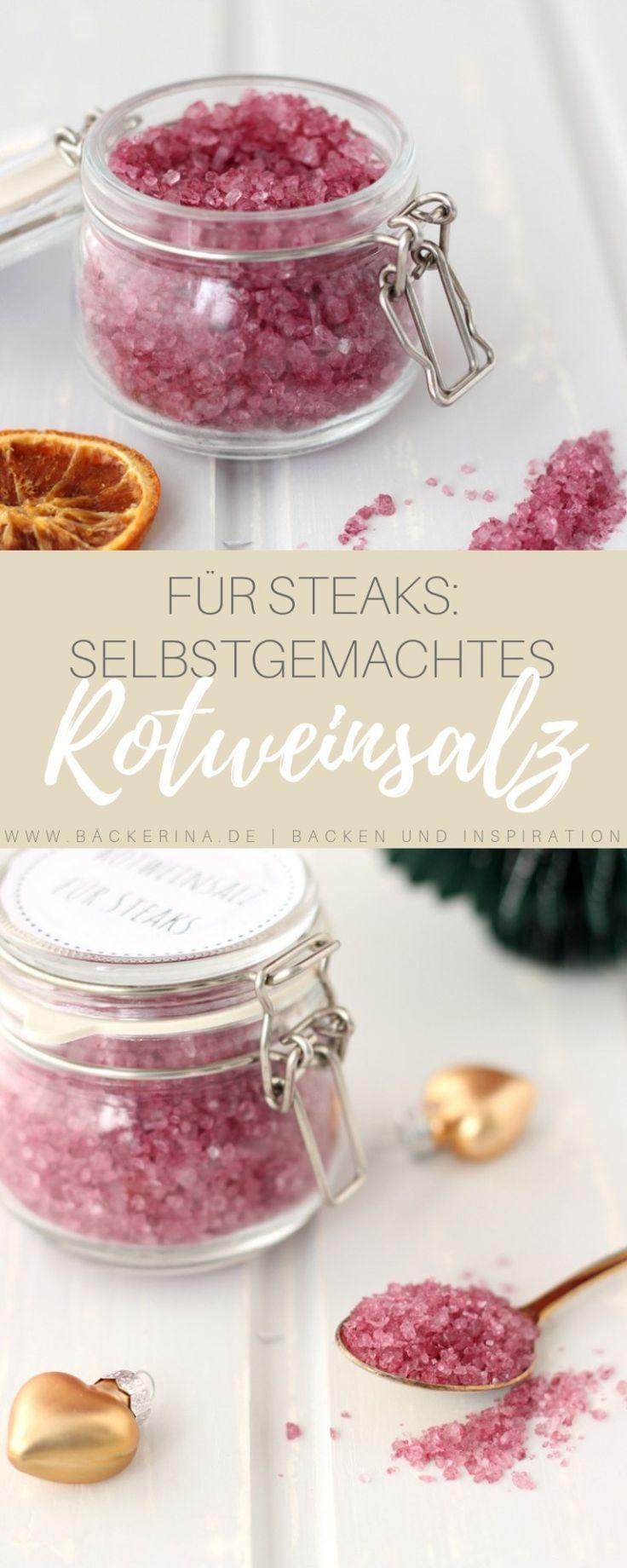 Selbstgemachtes Rotweinsalz für Steaks und Co #Küchenaufbewahrung