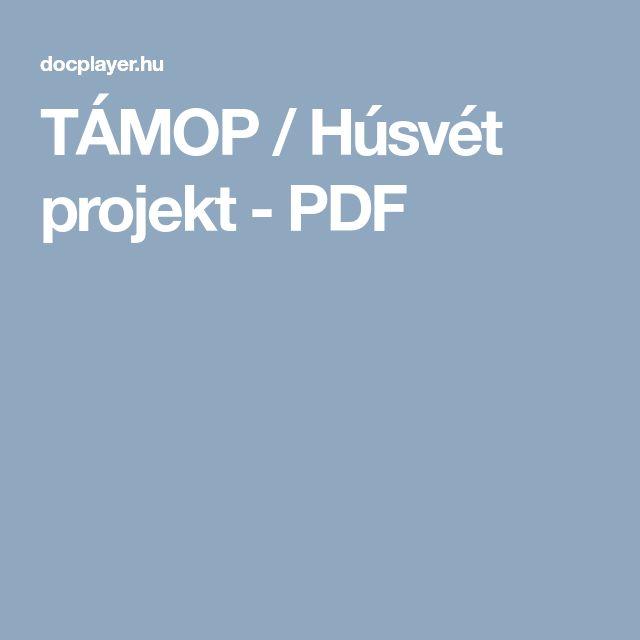 TÁMOP / Húsvét projekt - PDF