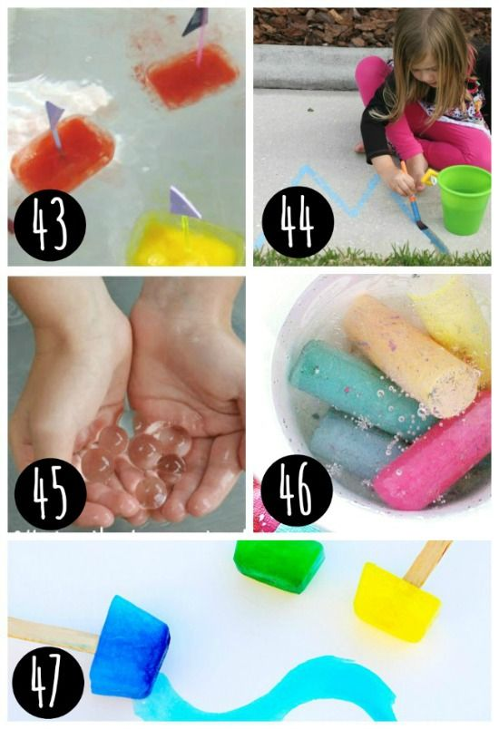 Fun sensory play water ideas!