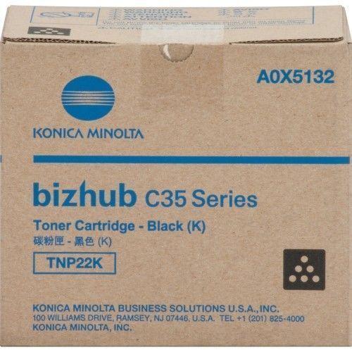 Konica Minolta Toner Cartridge Bizhub C35 TNP22K Black A0X5132 5,200 Pages New #KonicaMinolta