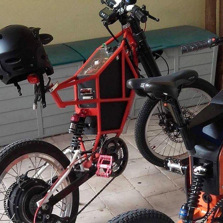 "Support Sardinian BlackRed fat  e - bike by Italian @gianluigischia -LaboratorioGh - Cromotor…"""