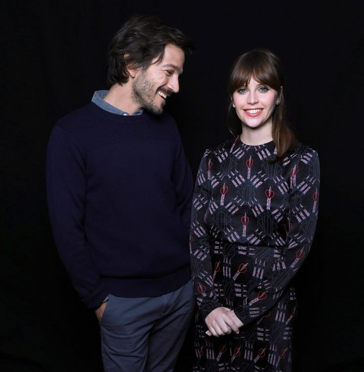 siriusxm: If the chemistry between @diegoluna_ and @felicity.jones is as amazing in #RogueOne as it is in this photo, then we'll be the first in line on opening day! Stay tuned for our exclusive Town Hall interview with Diego Luna and Felicity Jones...