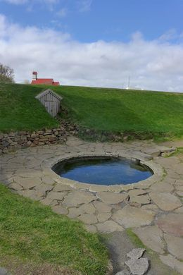 This hobbit-y little hot spring may be the oldest spring used by humans in all of Iceland