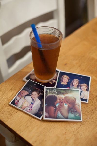DIY photo drink coasters