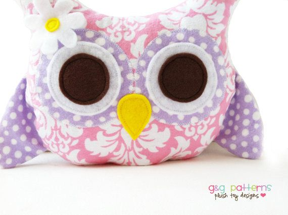 Items similar to Owl Sewing Pattern - Owl Bookend Or Owl Pillow Pattern - PDF on Etsy