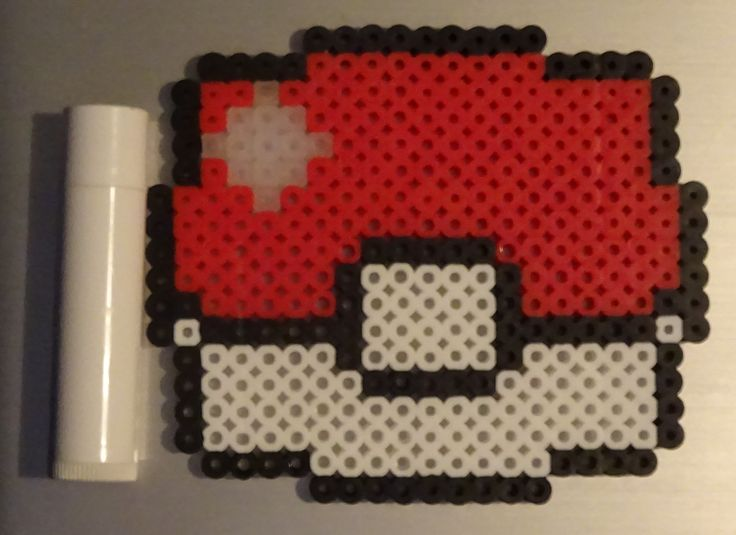 Perler Bead Large Pokeball. Customizable and for sale through my facebook page.