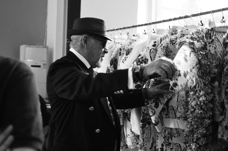 Antonio looking at Gabriel Lees collection