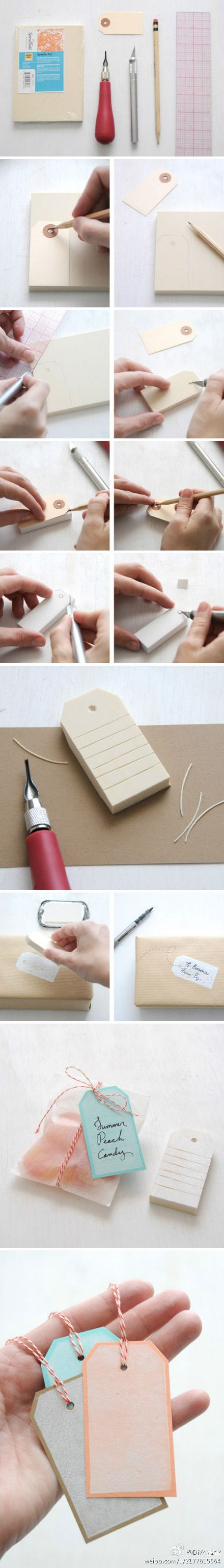 Tag Rubber Stamp.