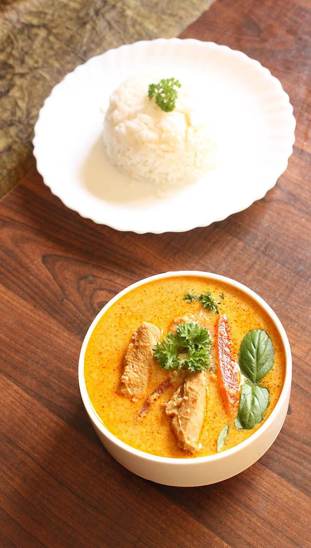 Thai Red Curry Chicken Recipe, How to make Thai Red Curry Chicken Recipe