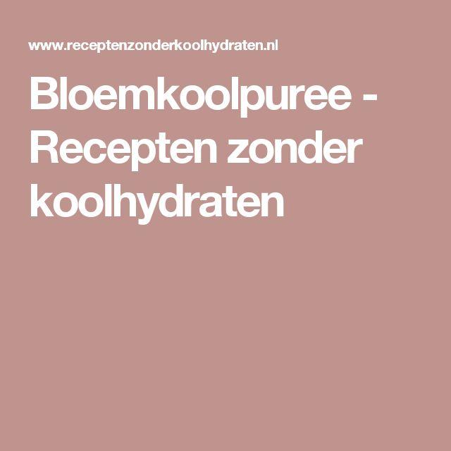Bloemkoolpuree - Recepten zonder koolhydraten